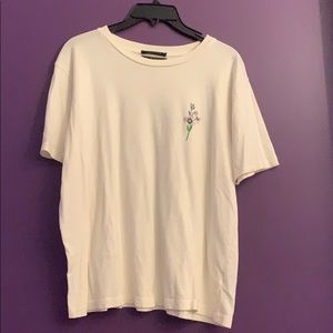 Urban outfitters off white flower tee shirt